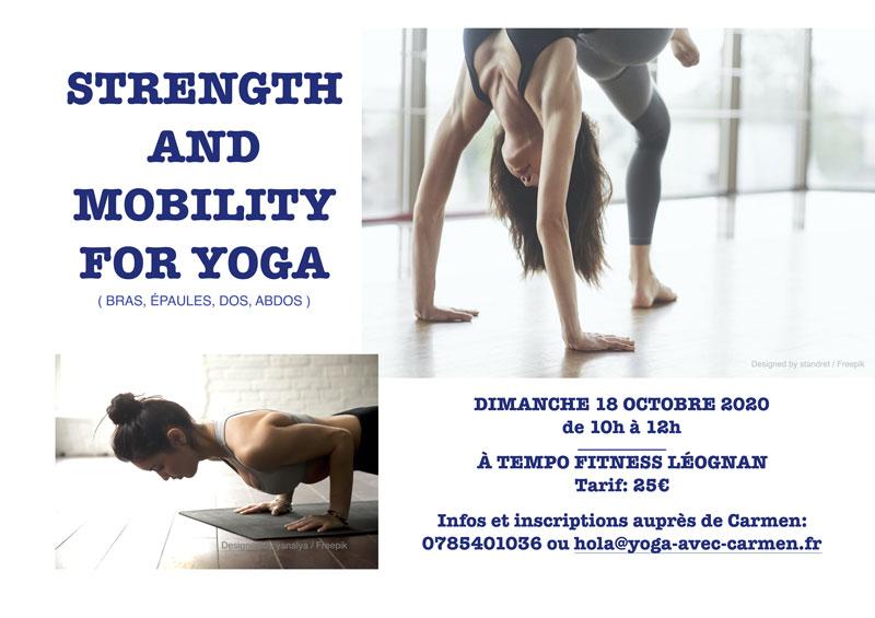 Le premier atelier yoga de la saison est la !